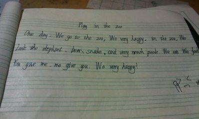 英语日记5句话大全 英语小学日记五句话,带翻译