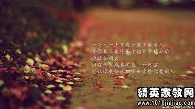 人生感悟的唯美段子 人生哲理的优美语句 10段 50字