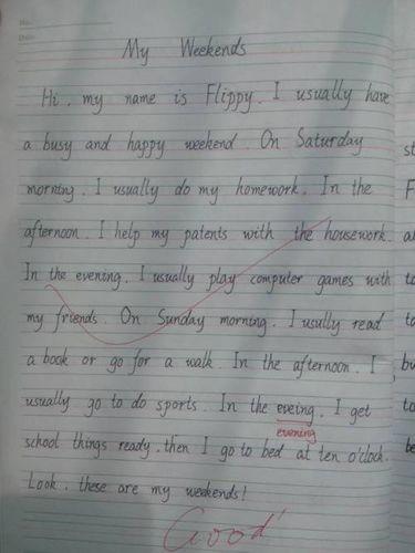 英语小短文五句话 小学三年级的英语小短文【五句话】