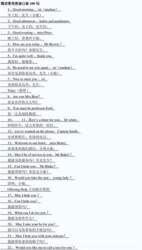英语必备口语100句