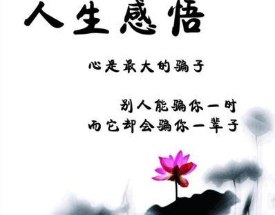 形容人生感悟的词语 有关人生感悟的成语