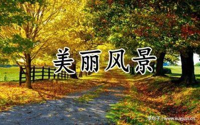 优美景色的短句子 描写风景的短句子