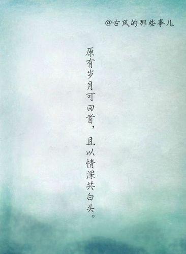 唯美的古风告白句子 求唯美古风句子,越多越好!