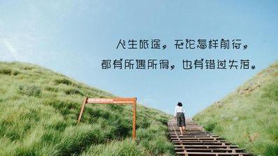 赞美人生的句子唯美