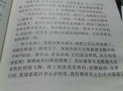 高中优秀句子段落摘抄